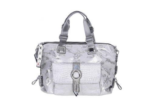 Peach Accessories 60204 Silver Large Fashion Tote Bag