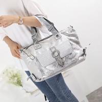 60204 Silver Large Fashion Tote Bag