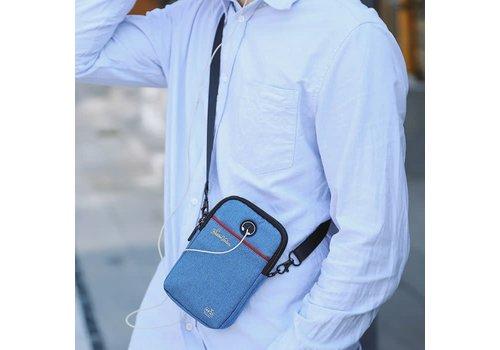 Peach Accessories PP07 Blue Denim Crossbody Bag