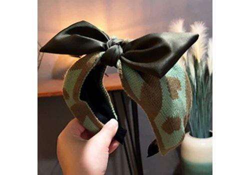 Peach Accessories HA725 Green wool Heart Hairband