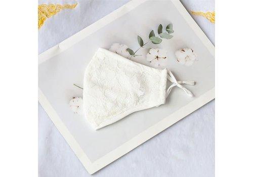 Peach Accessories 0003 Cream Cotton Lace Mask