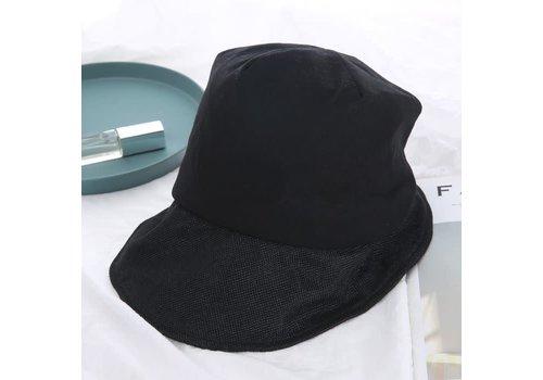 Peach Accessories RAI005 Black Linen mix Sun Hat