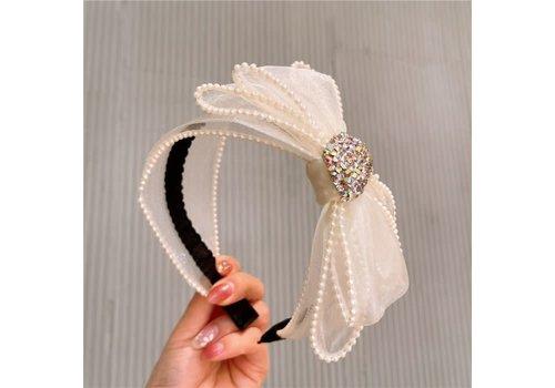 Peach Accessories HA738 Cream Sinamay Hairband