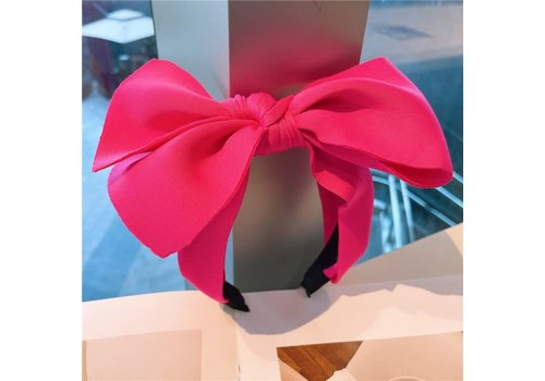 Peach Accessories HA732 Silky Bow Hairband in Pink