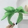 Peach Accessories HA732 Silky Bow Hairband in Green