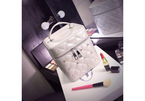 Peach Accessories PUR033 White Vanity Case W/Gemstones