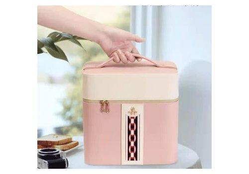 Peach Accessories PUR050 Pink Little Bee Vanity Case
