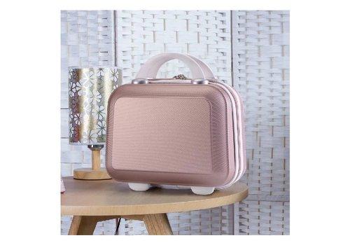 Peach Accessories PUR054 Ladies Mini Suitcase in Pink