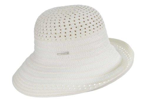 Seeberger Seeberger 54783-17 White Cloche Hat