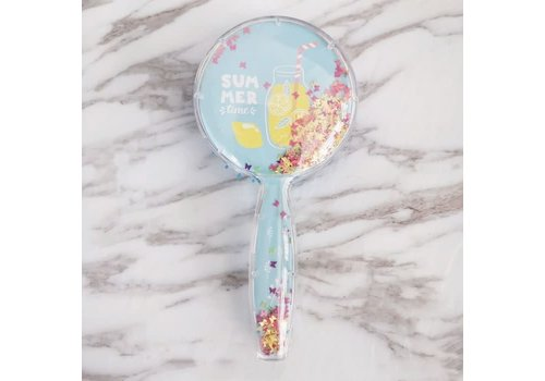 Peach Accessories PUR071 Sequinned Vented Hairbrush