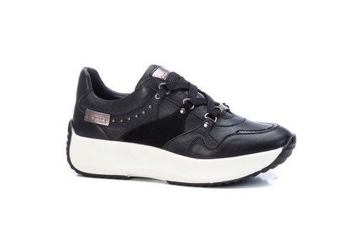 Carmela Carmela 68066 Black Laced Leather Sneaker