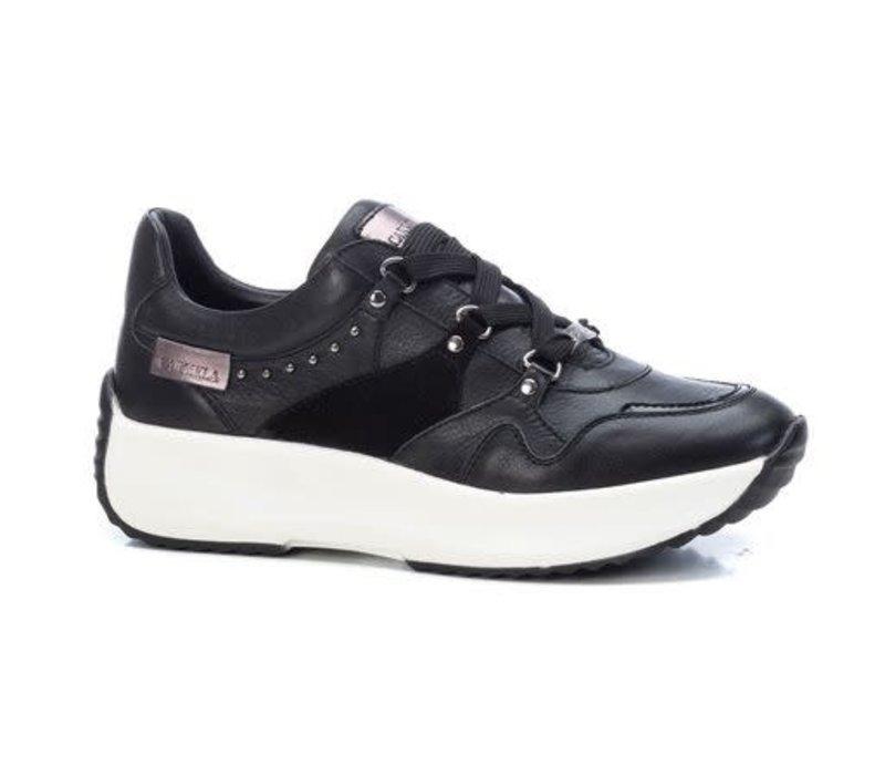 Carmela 68066 Black Laced Leather Sneaker