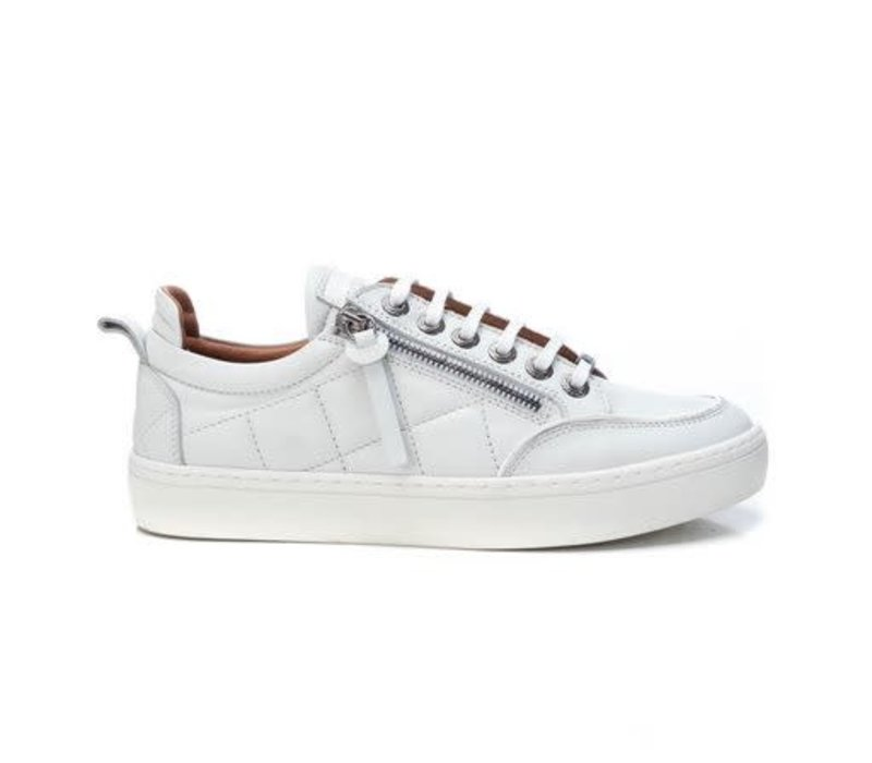 Carmela 68060 White Quilted Leather