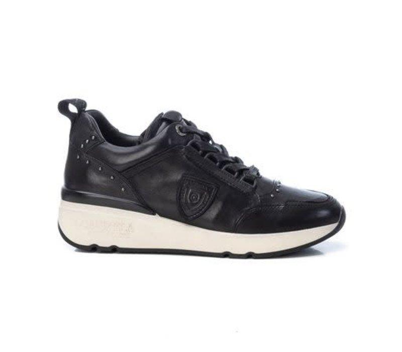 Carmela 68039 Black Laced Leather