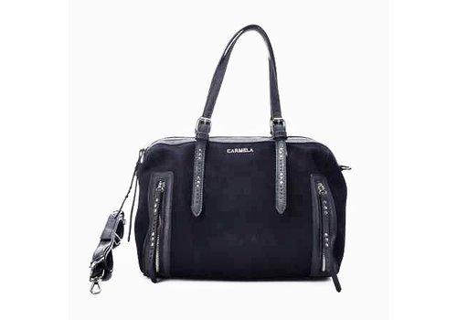Carmela Carmela 86590 Navy Suede Bag