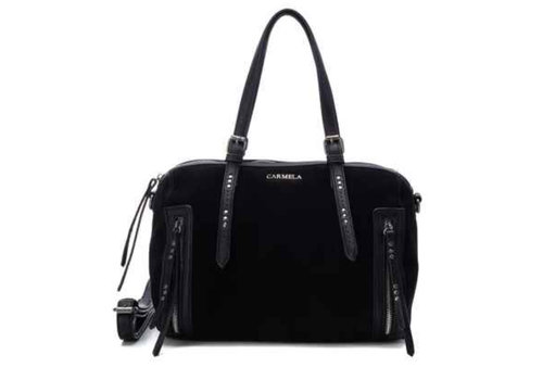 Carmela Carmela 86590 Black Suede Bag