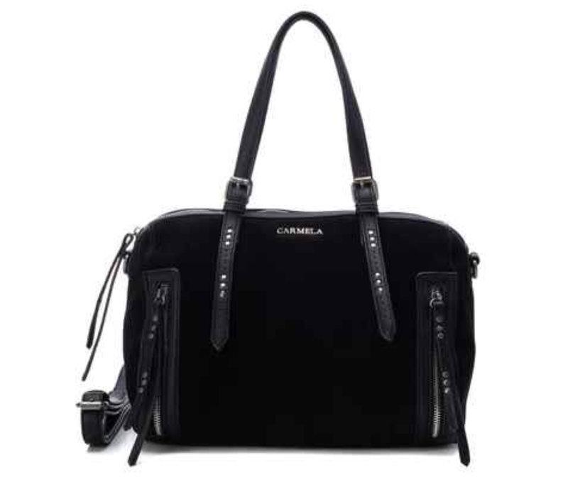 Carmela 86590 Black Suede Bag