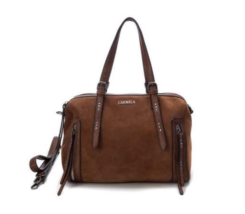 Carmela Tan Suede Bag