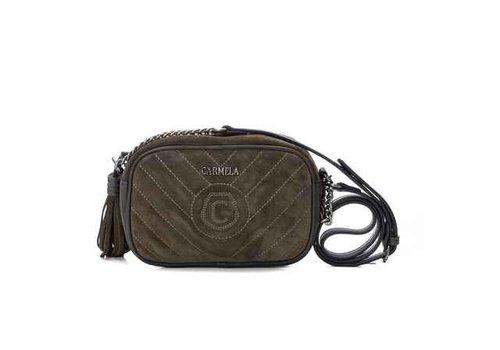 Carmela Carmela 86626 Olive Suede Bag
