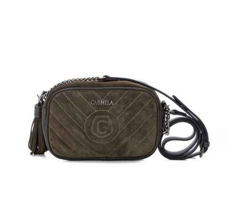 Carmela 86626 Olive Suede Bag