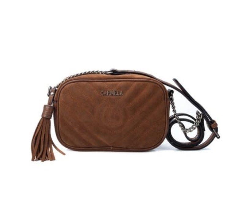 Carmela 86626 Tan Suede Bag