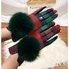Peach Accessories HA215 Red/Green Tartan Pompom Gloves