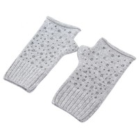 SDN111  Silver Fingerless Gloves with Diamonte