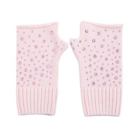 SDN111  Pink Fingerless Gloves with Diamonte