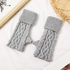 Peach Accessories SDN101 Silver Cable knit Fingerless Gloves