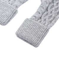 SDN101 Silver Cable knit Fingerless Gloves