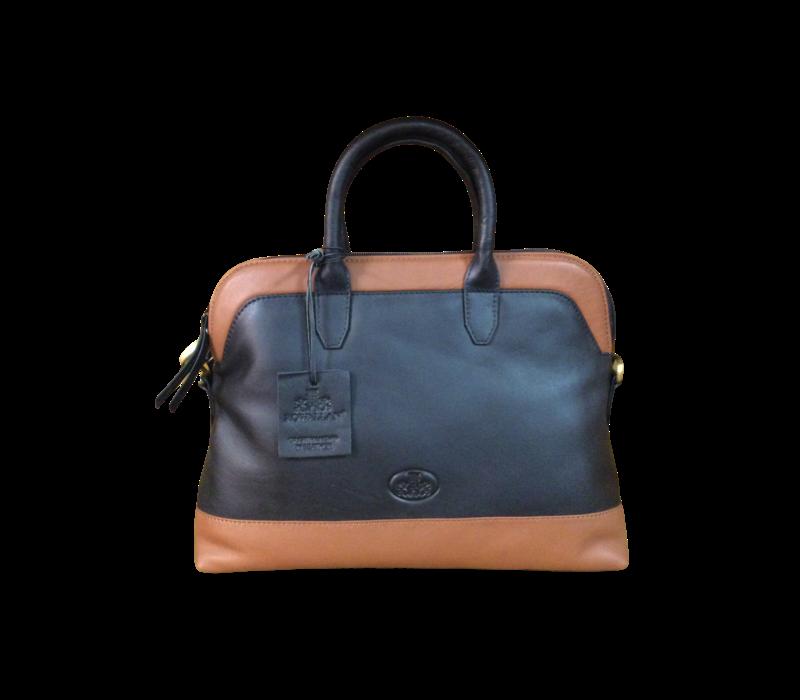 Rowallan 1777/17 Black/Tan Twin Handle Bag