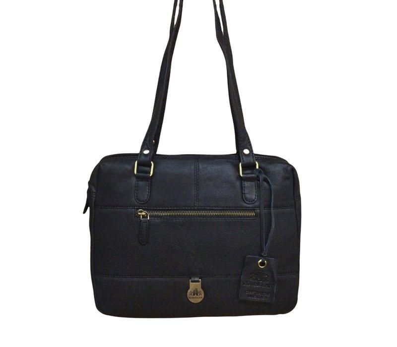 Rowallan 1991/01 Black Soft Leather Bag