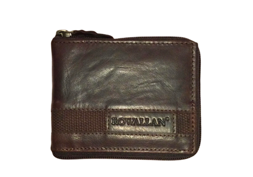 Rowallan Rowallan 6738 Brown zip around Wallet