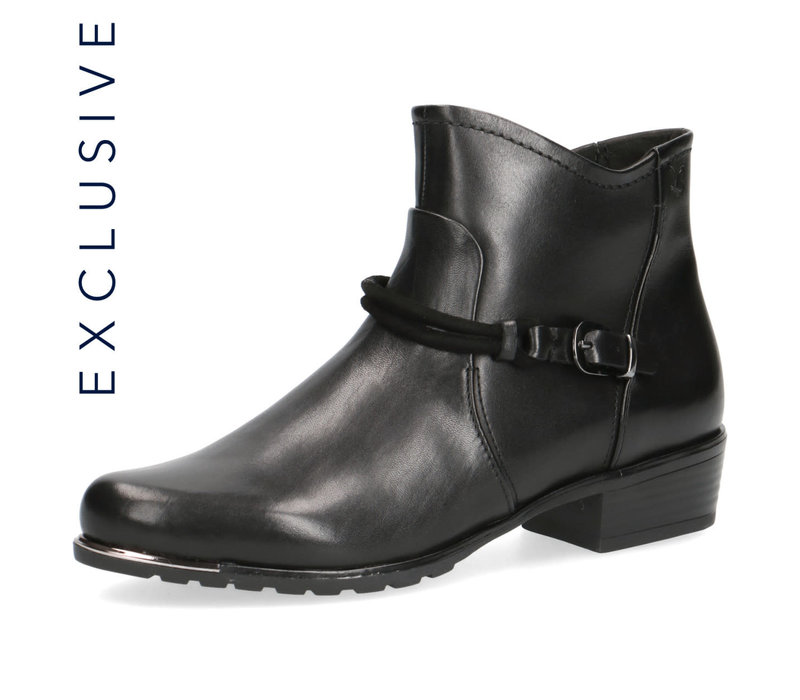 Caprice 25404 Black Leather A/Boot