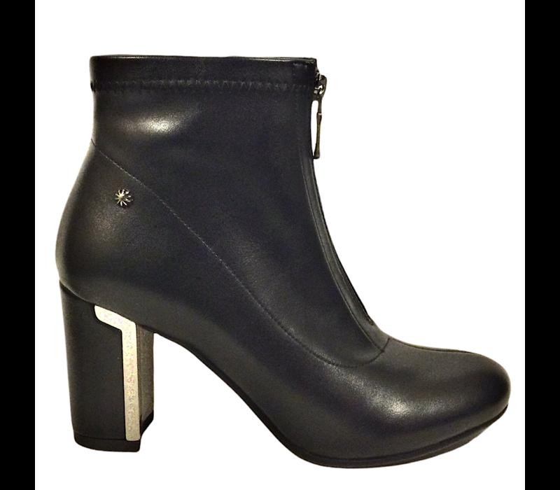 REDZ D2310 Black Block Heel Boots