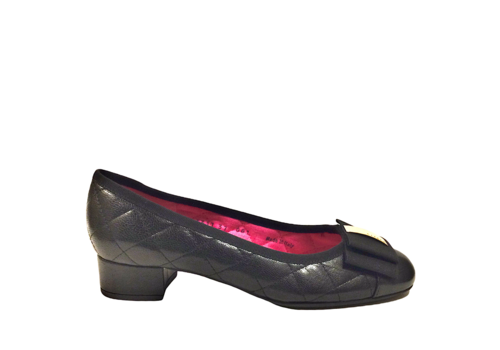 Le Babe Le Babe 3317  Black quilted Pump