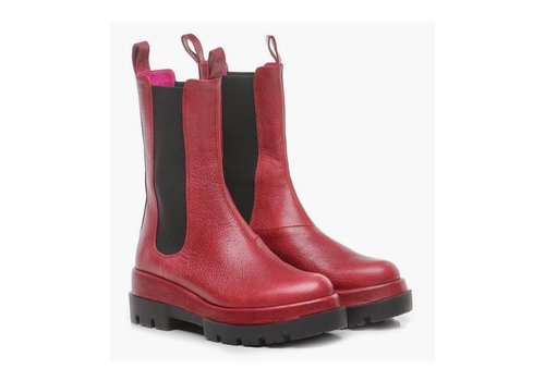 Le Babe Le Babe 326 long Red Chelsea Boot