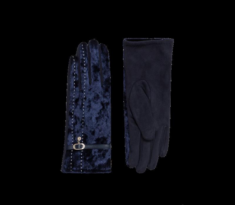 Pia Rossini FELIX Navy velvet Gloves