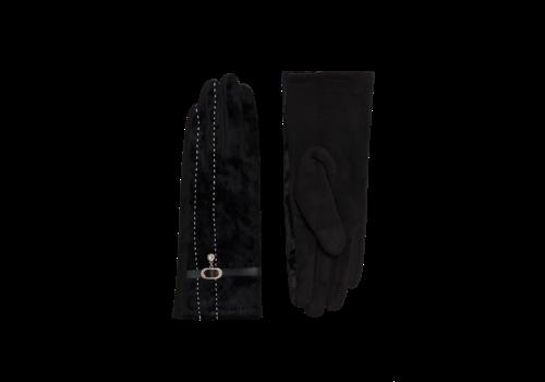 Pia Rossini Pia Rossini FELIX Black velvet Gloves