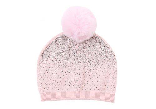 Peach Accessories SD04 Pink Diamontè Pom Pom Hat