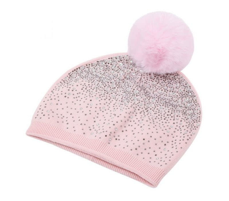 SD04 Pink Diamontè Pom Pom Hat