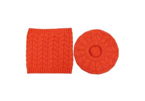 Peach Accessories SDN93 Matching Hat & Snood set in Orange