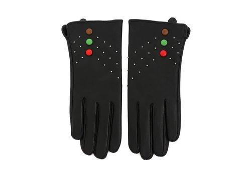 Peach Accessories HA203 Black multi Leather Gloves