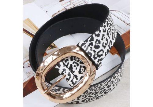 Peach Accessories BEL031 Leopard Print Belt