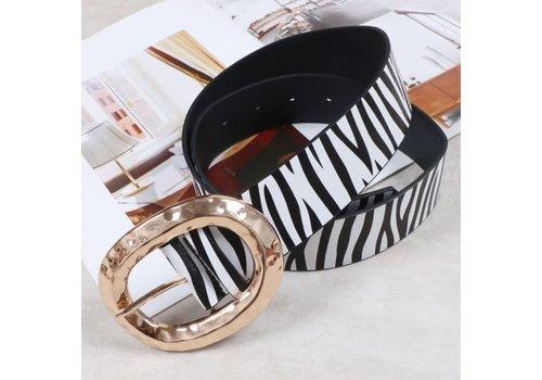 Peach Accessories BEL031 Zebra Print Belt