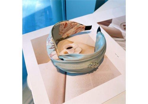 Peach Accessories HA729 Mint Floral Hairband