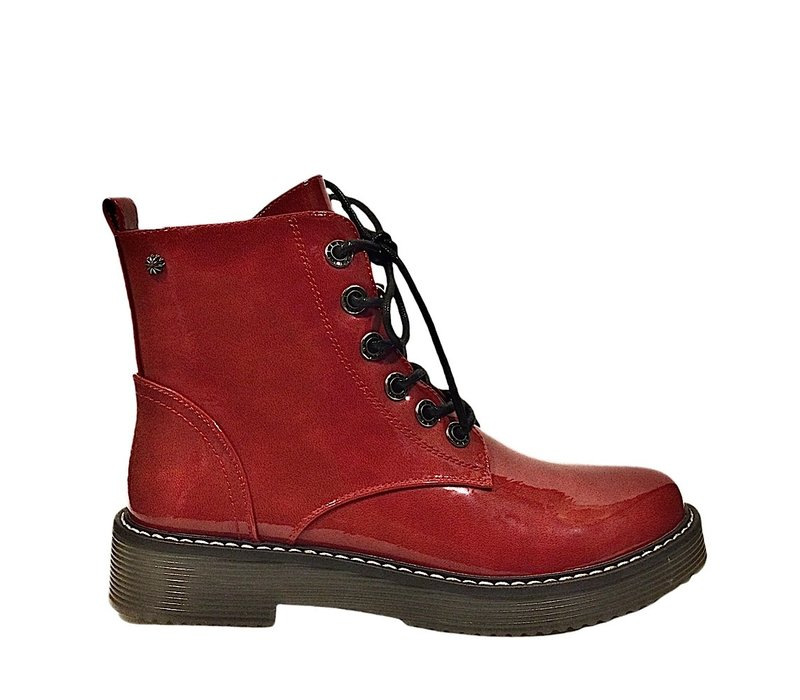 REDZ D2371 Red Patent Doc style Boot