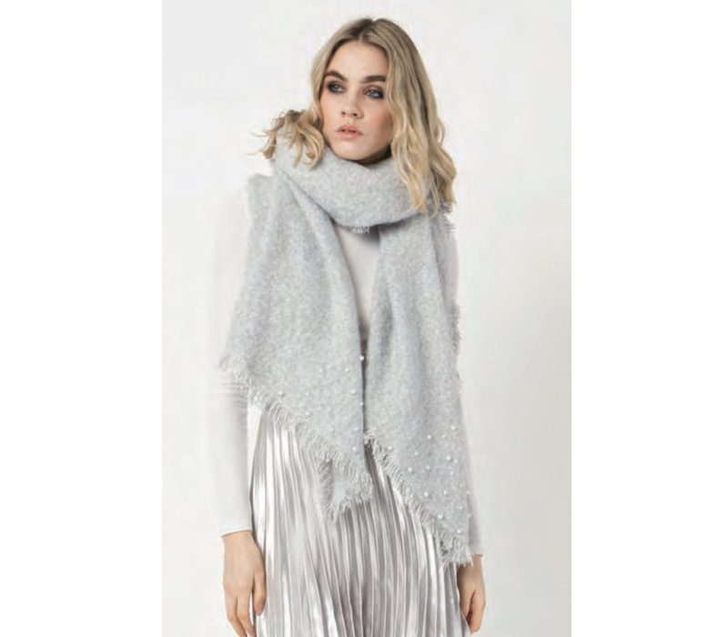 Pia Rossini ALEXA Grey Blanket Scarf