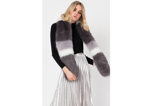 Pia Rossini Pia Rossini LORI Furry Scarf in Grey