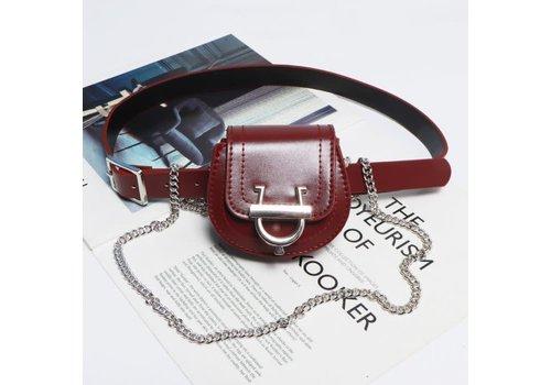 Peach Accessories BEL029 Belt Bag in Burgundy